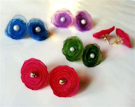 How To Make Paper Stud Earrings - diy flower stud earrings