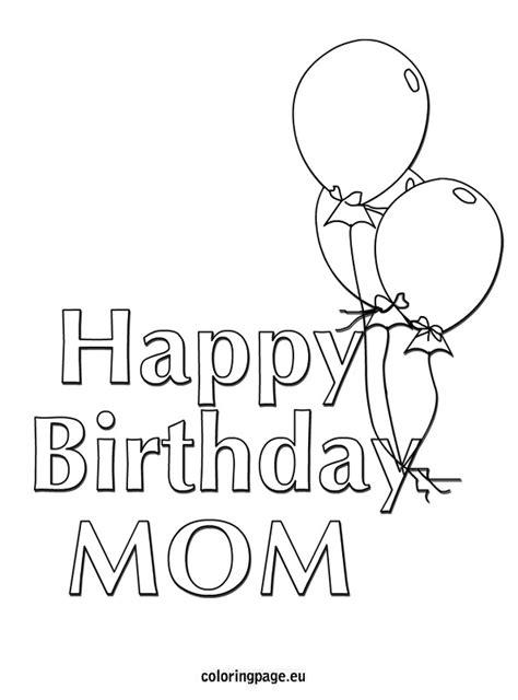 balloons coloring pages preschool happy birthday mom balloons coloring page preschool