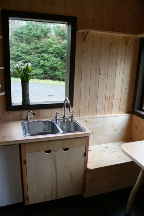 Tiny Kitchen Sink Tony S Caravan Tiny House By Hornby Island Caravans