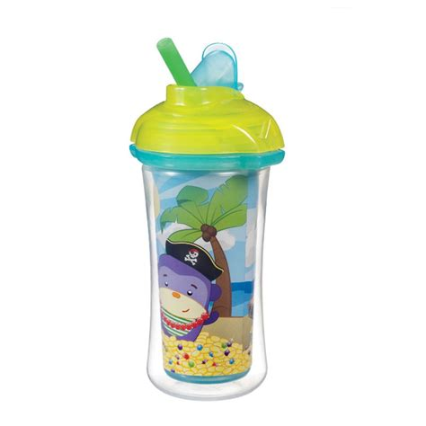 Tutup Botol Sedotan Spill Proof Untuk Botol Mineral munchkin click lock insulated straw cup 9oz pirate s chest magenta room