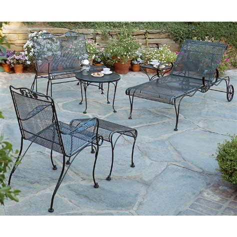 iron patio furniture set woodard briarwood wrought iron patio set