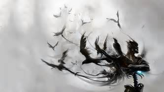 bird raven wallpaper wallpapersafari