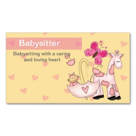 babysitting templates for business cards babysitting quotes for flyers image quotes at relatably