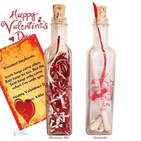 message in a bottle valentines gift s day message in a bottle gift