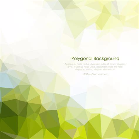photo layout vector photo collection green polygonal background vector