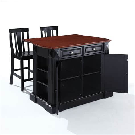 Kitchen Island Furniture With Seating by The Attractive Black Kitchen Island Completed By Back