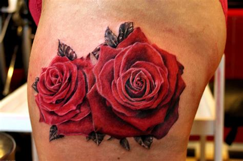 what goes with rose tattoos two roses flower design ideas ideas