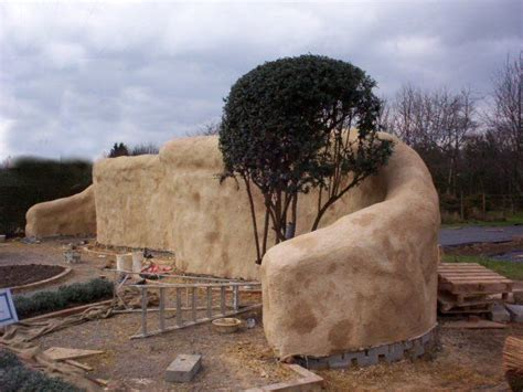 straw bale wall architectural features