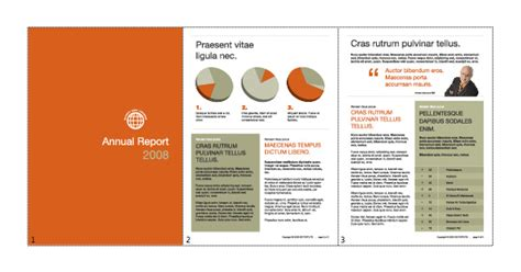 layout of a good report publishing a multiple paged pdf document using illustrator