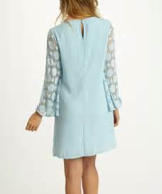 Light Blue Shift Dress by Pinkblush Light Blue Geo Crochet Shift Dress Zulily
