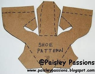 How To Make A Shoe Out Of Paper - paisley passions it s all about the shoes