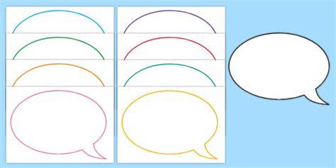 Speech Bubbles Template by Editable Speech Bubbles Speech Bubbles Editable