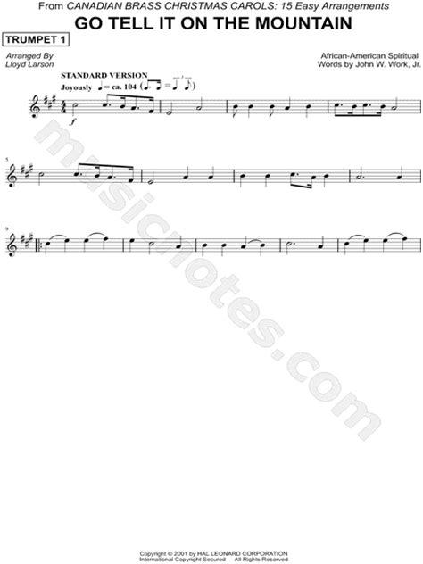 printable lyrics go tell it on the mountain canadian brass quot go tell it on the mountain trumpet 1