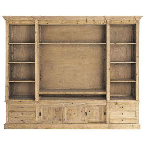 biblioth 232 que meuble tv en bois massif recycl 233 l 264 cm