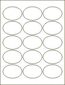 1 x 2 5 8 label template 2 1 2 x 1 3 4 inch oval label blank labels for inkjet and