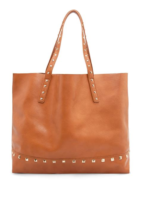 Mango Touch Bag mango touch studded shopper bag in brown 74 lyst