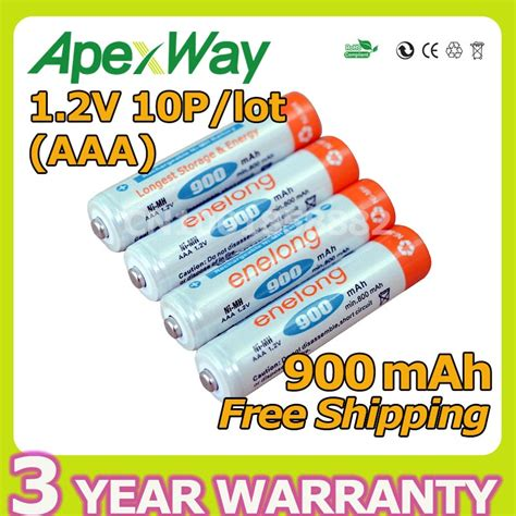 Battery Rechargeable Aaa Ni Mh Batteries 900mah Enelong apexway low self discharge 10pcs lot enelong batteries aaa 900mah 1 2v ni mh rechargeable