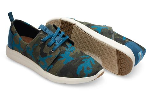 womens camouflage sneakers toms camo canvas printed s sneakers in green