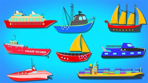 youtube different types of boats ships and boats water vehicles learning video youtube