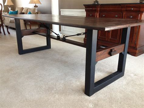 industrial chic dining table industrial chic dining table cz woodworking