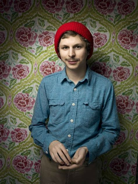 michael cera canadian michael cera is conveniently wearing a cherry tomato hat