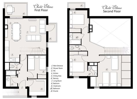 open living floor plans chalet appartement ellemo for small groups in morzine