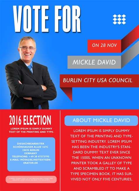Election Poster Template Caign With These Elegant Free Political Caign Flyer Templates Demplates