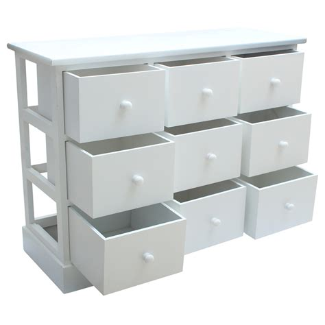 Drawer Unit With 9 Drawers by Warmiehomy White Chest Of 9 Drawers Storage Unit Cabinet