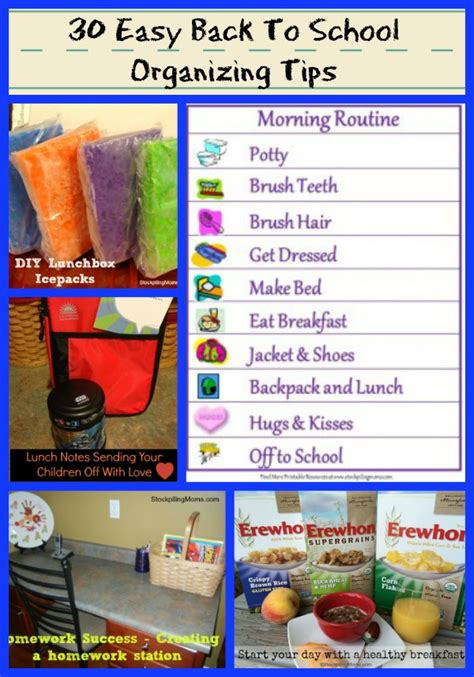 organization tips for school 30 easy back to school organizing tips