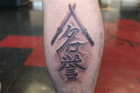 tattoo 3d lettering calf lettering 3d tattoo by shogun tats