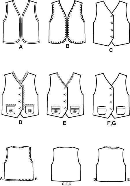 printable toddler vest pattern unisex child vest pattern hobbit party pinterest