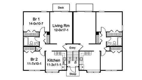 fourplex floor plans highcroft split fourplex plan 008d 0112 house plans and more