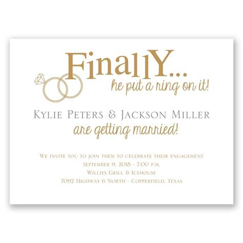 Engagement Invitations by Finally Engagement Invitation Invitations