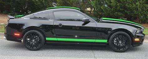 mustang rocker panel stripes black mustang neon green shelby stripes and rocker