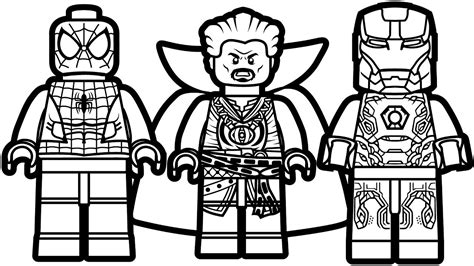 97 coloring page of lego man lego iron man vs