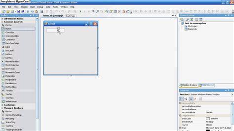 tutorial visual basic express edition 2008 visual basic 2008 express edition tutorial text to