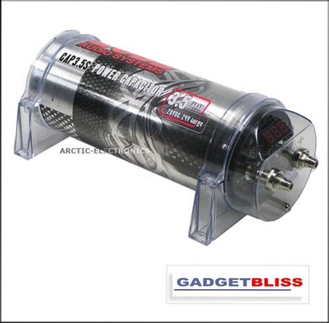 farad audio capacitor audio 3 5 farad capacitor cap3 5s lifier sub woofer for car audio ebay
