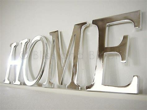 Silver Letters Home Decor Silver Coloured Home Letters Bliss And Bloom Ltd