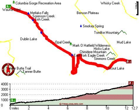 map of oregon eagle creek map of eagle creek trail central cascade range oregon
