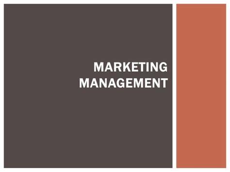 Mba In Marketing Management Scope by Basic Marketing Management