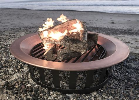 solid copper pit 40 quot solid 100 copper pit bowl wood burning patio