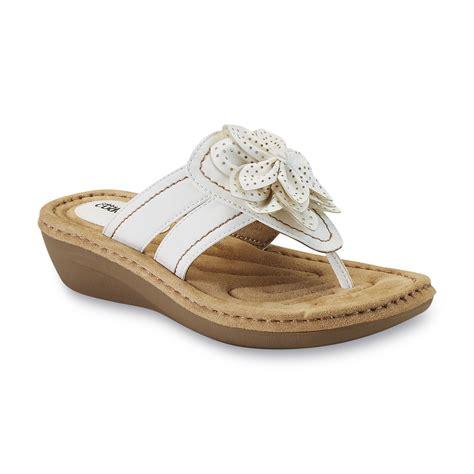 kmart womens sandals cobbie cuddlers s reginy white wedge sandal