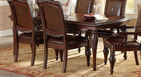 Distressed Finish Dining Table Antoinette Mahogany Dining Table With Distressed Cherry Finish