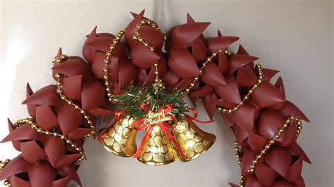 how to make christmas wreath door decoration from
