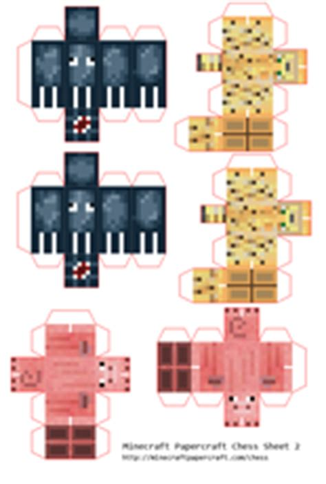 Minecraft Papercraft Chess - minecraft papercraft chess