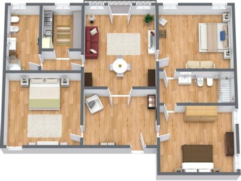 planimetria da letto appartamento a venezia con 3 camere da letto