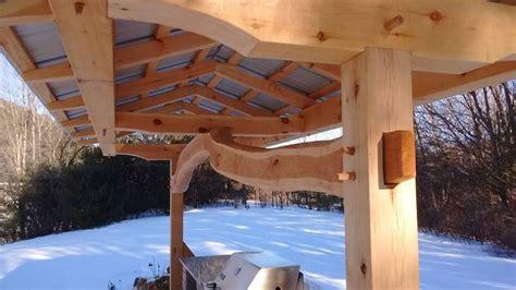timber frame shelter  outdoor kitchen