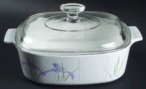 Corningware Country Cottage by A Resale Corning Shadow Iris 2 Qt Square Casserole With Lid