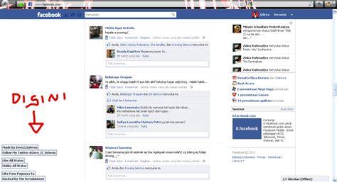 fb zero zero zone cara like all status fb dengan facebook autolike