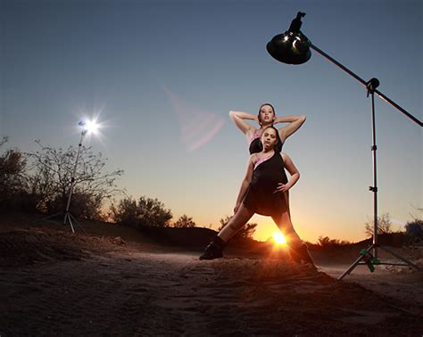 tech sheet two speedlights and the sun for a dramatic